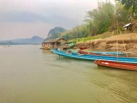 Laos-Mekong-Boote