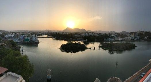 Indien-Udaipur-Sonnenuntergang