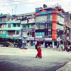 Nepal-Pokhara-Strassen