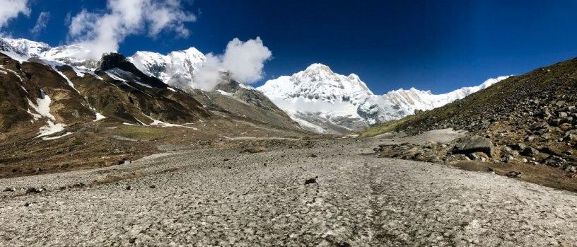 Nepal-Tag07-Schneespuren