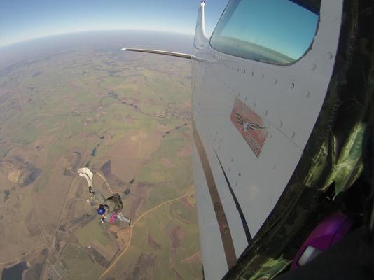 Skydive-absprung