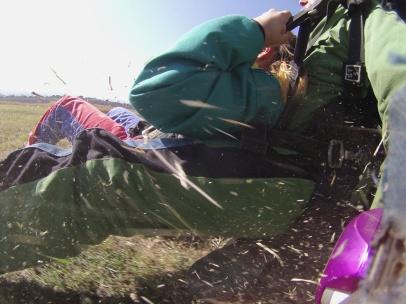 skydive-landung